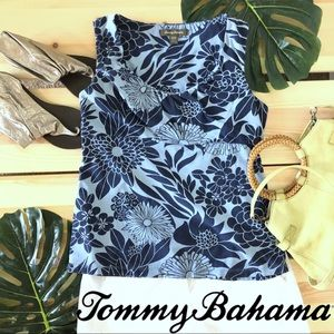Tommy Bahama Fitted Floral Print Summer Tank Top